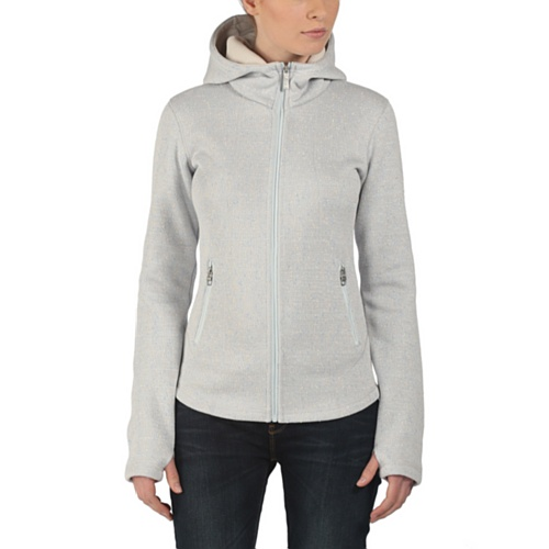 Bench Damen Jacke Strickjacke Duplex grau (Pale Grey Marl) Small