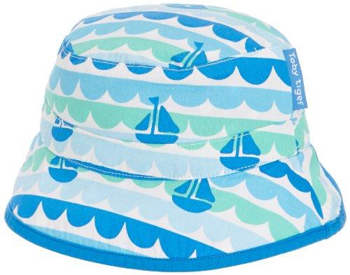 Toby Tiger Mädchen Mütze Boat Reversible Sunhat Blau, X-Large -