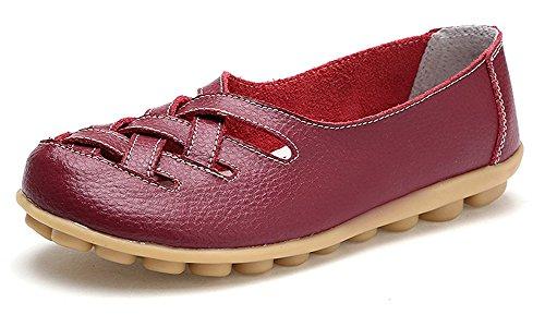 Eagsouni Damen Mokassins Bootsschuhe Leder Loafers Schuhe Flatschuhe Halbschuhe Flache Fahren Halbschuhe Slippers (Loafer Mokassins Für Frauen)