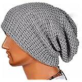 Malloom® Hombres Mujeres universal Cálido Invierno de punto de esquí Beanie Hat cráneo Slouchy Gorra Sombrero (gris)