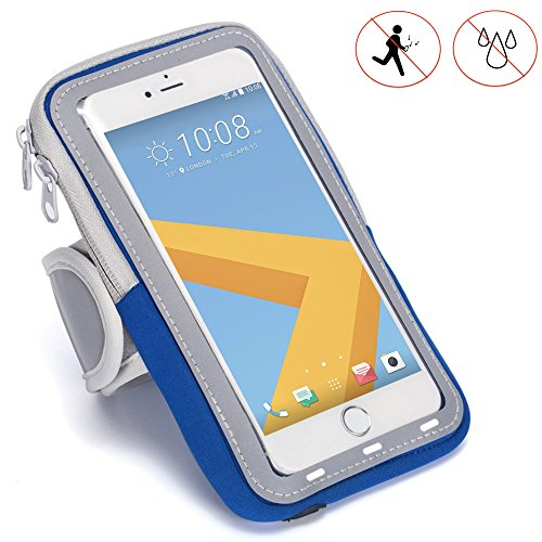 Handy Schutzhülle Tasche | für simvalley MOBILE SPX-34 | Sport armband zum Laufen, Joggen, Radfahren | SPO-1 Blau