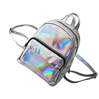 51enoq%2BitBL. SS324  - Tinksky - Mochila para niña con Holograma láser, Estilo Casual, Mini Holograma, Bolso de Hombro para Viaje (Plata)