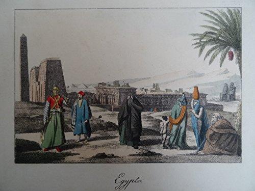 Egypte. Kolor. Lithographie, um 1850. 13 x 19 cm.