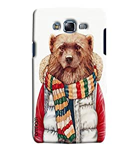 Omnam Wolf Printed Printed Designer Back Cover Case For Sumsang Galaxy J7