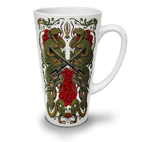 Drachen Gewehr Rose Gangster WeißTee KaffeKeramik Kaffeebecher 17 | (Kostüm Terror Planet)