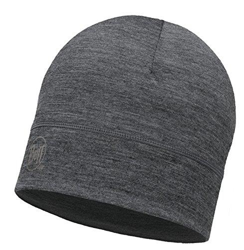 Buff® Set - 1 Layer Merino HAT Mütze + UP® Ultrapower Schlauchtuch   Merinowolle   Strickmütze   Logo   Beanie   Atmungsaktiv   Geruchshemmend, Buff Design allgemein:Grey   113013.937.10