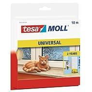 Tesa Spar-Set 2x: 05412-00100-00 Schaumstoff UNIVERSAL, 10m:9mm, weiß WEISS Länge/m: 10,00 Breite/mm: 9,0