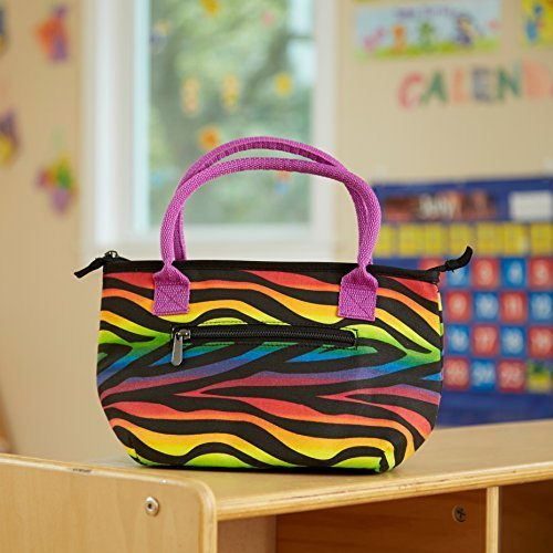 fit-fresh-kids-alyssa-insulated-lunch-bag-with-zippered-closure-rainbow-zebra-by-fit-fresh