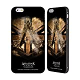Head Case Designs Offizielle Assassin's Creed Gold Schilling Halskette Verband Logo Kunst Schwarz Rahmen Hülle mit Bumper aus Aluminium für iPhone 6 Plus/iPhone 6s Plus