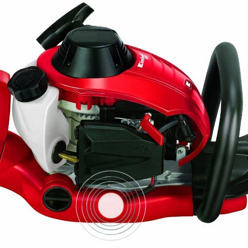 Einhell Benzin Heckenschere GE-PH 2555 A (0,85 kW, 1,2 PS, 550 mm Schnittlänge, 28 mm Zahnabstand, inkl. Auto Choke und Primer, drehbarer Handgriff) -