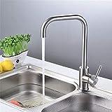 XTFD-Faucet Küchenarmatur heiß und kalt waschbecken Wasserhahn 304 Edelstahl waschbecken Wasserhahn kann gedreht Werden