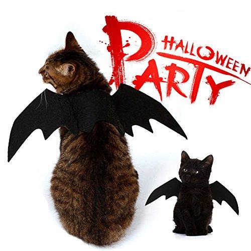 SIMPLESTLIFE Halloween Pet Bat Wings Katze Hund Fledermaus Kostüm für Halloween Weihnachten Jahr