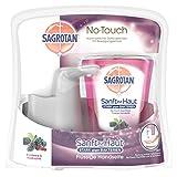 Sagrotan No-Touch Automatischer Seifenspender silber inkl. Nachfüller Garden Berries, Flüssige Handseife, 1er Pack ( 1 x 250 ml)