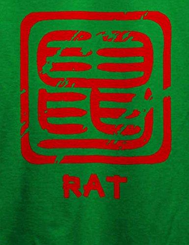 Chinese Signs Rat T-Shirt Grün