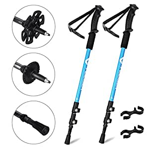 Trekking poles homeme antishock hiking sticks portable - Antishock porta ...