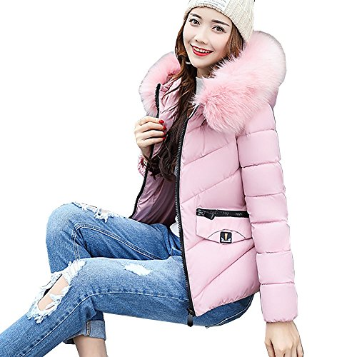 Winter Hooded Outwear Damen Btruely Warm Mädchen Jacke Damen Slim Parka Mode Mantel (XXL, - Damen Jacke Mädchen Rosa