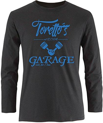 EZYshirt® Toretto´s Garage Herren Longsleeve Schwarz/Blau