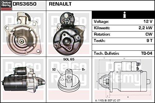 DELCO REMY DRS3650 Motorino d'avviamento