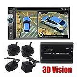 L-CAM Telecamera panoramica 3D 1080P HD Sistema di parcheggio per videoregistratore Digitale a 360 Gradi Senza Cuciture Surround View, Telecamera per la Visione Notturna Impermeabile a Tutto Tondo