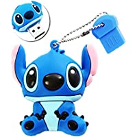 Sunworld Clef USB 16 Go Originale Clés USB 2.0 Flash Drive Mémoire Stick Stitch Bleu
