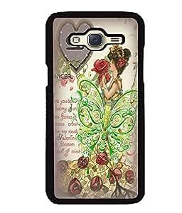 Fuson 2D Printed Girly Designer back case cover for Samsung Galaxy J5 J500F - D4615