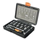 STACO 65016 - Juego de herramientas (llaves de vaso y carraca, 1/4 pulgada)