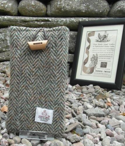 Authentic Harris Tweed Schutzhülle/Socke für iPhone 6/6S, S6Edge & Galaxy A5/S5... Lovat (Collection Hat Der Authentic)