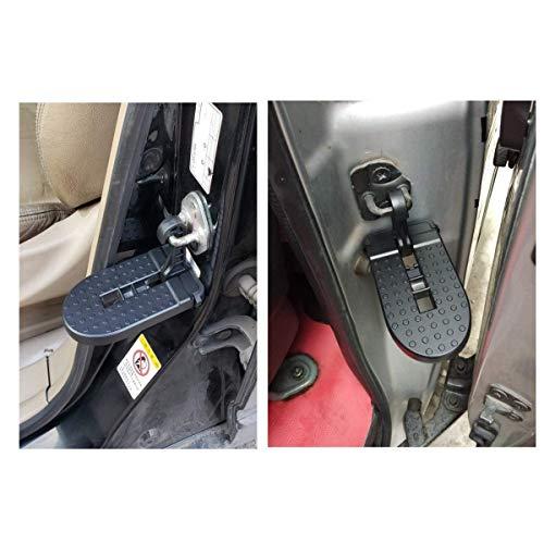 LFOTPP Ateca Arona Tarraco SUV Aluminiumlegierung Faltbar Auto Türpedal, Haken Pedal Klapppedal Sicherheitshammer (Schwarz)
