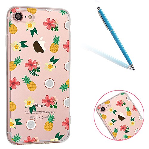 iphone-7-handyhulle-47-apple-iphone-7-cltpy-transparent-slim-fit-gel-softcase-mit-flamingo-schmetter