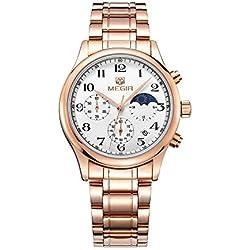 Mann, Quarzuhren, Armbanduhr, Geschäft, Freizeit, Im Freien, Multifunktionsgerät, 5-Zeiger, Metall, W0531