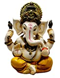 #7: Amazing India Hand Carved God Ganesha Resin Idol Sculpture Statue Size 5.6 Inches