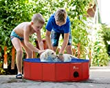 Piscine pour Chien Pliable Portable Baignoire Douche Bassin pour Grand et Petite Animal - Piscine de Bain pour Enfant Extérieur ou Intérieur 80 * 20 cm