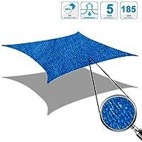 Cool Area Toldo Vela de Sombra Rectangular 4 x 6 Metros Protección Rayos UV, Resistente y Transpirable (Varios Colores y Medidas), Color Azul