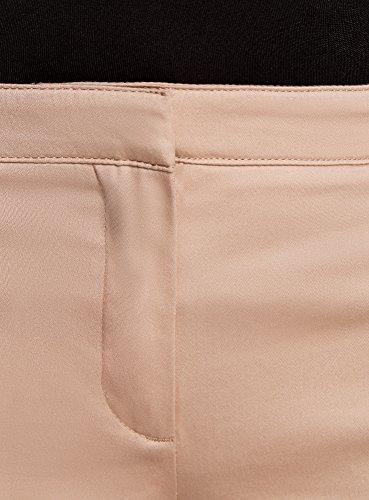 oodji Ultra Damen Sommerhose Basic Beige (3300N)