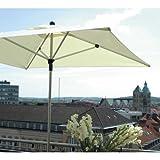 Zangenberg 64711_511 Sonnenschirm Riva, beige, 300x300 cm Quadratisch, Gestell Aluminium, Bespannung Polyester, 15 kg