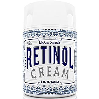 Retinol Cream Moisturizer for Face and Eyes, Use Day and Night – for Anti Aging, Acne, Wrinkles – made with Natural and Organic Ingredients – 1.07 OZ by LilyAna Naturals