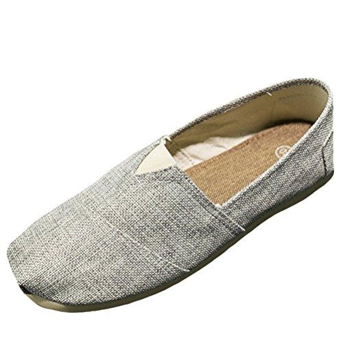 Vogstyle Herren Damen Unisex Couple Lässige Leinen Reise Loafer Flache Schuhe Art 3-Beige