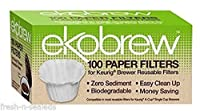 Optional Coffee Paper Filter for Ekobrew Single Serve Filter, 100 Count
