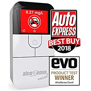 AlcoSense Excel Fuel Cell Breathalyzer Alcohol Tester Breathalyser - Auto Express & EVO Magazine Group Test Winner