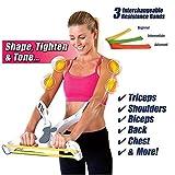 Bestyling Attrezzo ginnico con elastici di resistenza, per rafforzare le braccia, i bicipiti, le spalle, il petto, la schiena e la parte superiore del corpo, ideale per gli appassionati di fitness