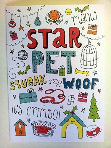 'Star Pet, Crimbo.' Cute di Natale cane gatto criceto Gerbil Guinea Pig.