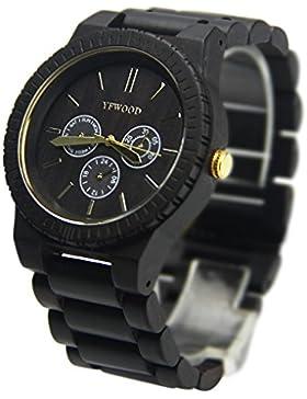 YF-WOOD - -Armbanduhr Herren Uhren - YZS-15