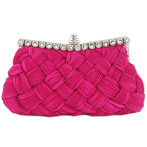 SSMK Evening Bag, Poschette giorno donna bright rosy red