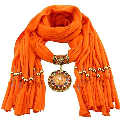 YEBIRAL Schal Damen Schal Anhänger Quaste Frauen Mode Accessoires Deckenschal Halstuch Schals(Orange) -