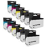 Lot de 12 Cartouches d'encre Compatible deHaut Rendement pour Canon PGI-550XL CLI-551XL Série - DEUX ENSEMBLES (avec le Gris)