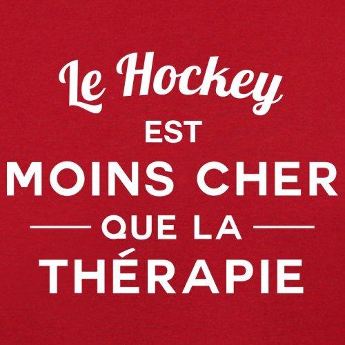 Le hockey est moins cher que la thérapie - Femme T-Shirt - 14 couleur Rouge