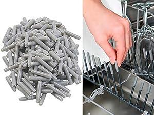 Sichler Haushaltsgeräte Geschirrkorb-Schutzkappe: 200er-Pack...