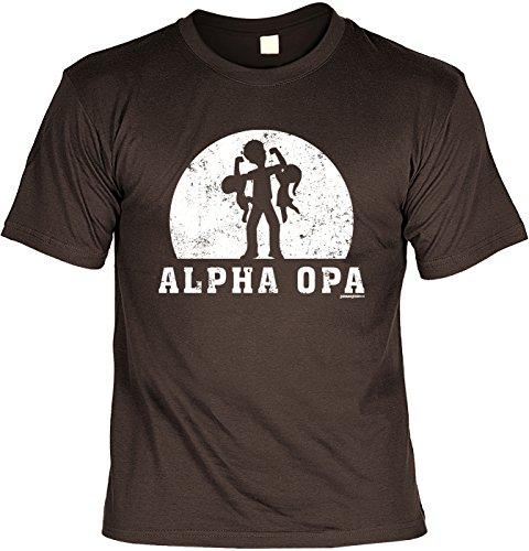 Vatertag T-Shirt - Alpha Opa - Präsent für Opa (Passende Für Familie Weihnachts-shirts Die)
