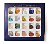 Gemstone Selection Box . Collection of 20 Genuine Gemstones. Perfect For a Present