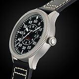 Gigandet Automatik Herren-Armbanduhr Red Baron I Fliegeruhr Uhr Datum Analog Lederarmband Schwarz G8-005 - 5